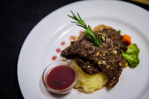 this plate of tender, delicious Mediterranean Beef steak
